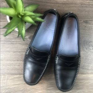 Cole Haan Trillby Black Leather Driving Moccasin